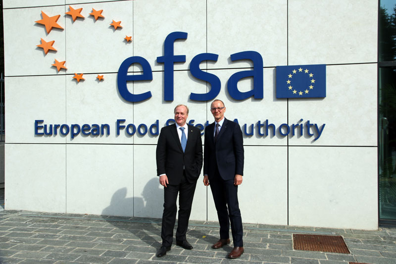 Principe Carlo Saverio in visita all'EFSA